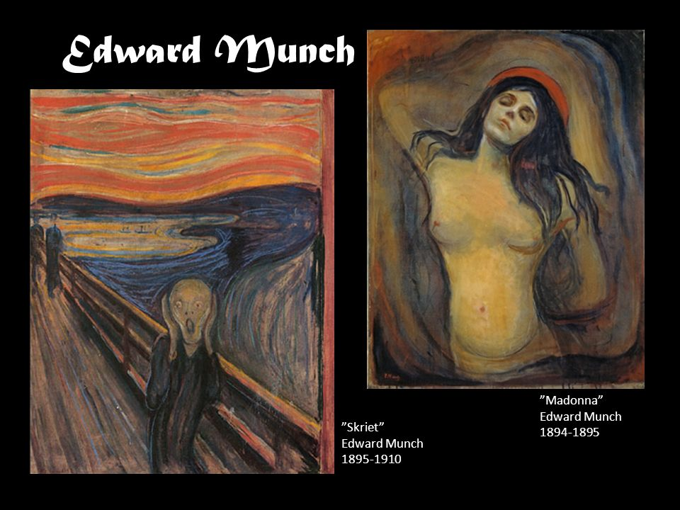 Edward Munch Madonna Edward Munch Skriet Edward Munch