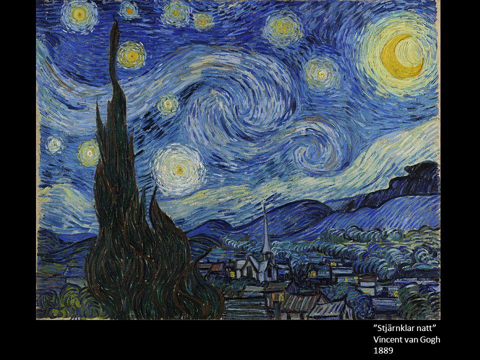 Målad från minnet. Stjärnklar natt Vincent van Gogh 1889