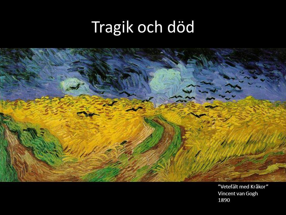 Tragik och död Vetefält med Kråkor Vincent van Gogh 1890