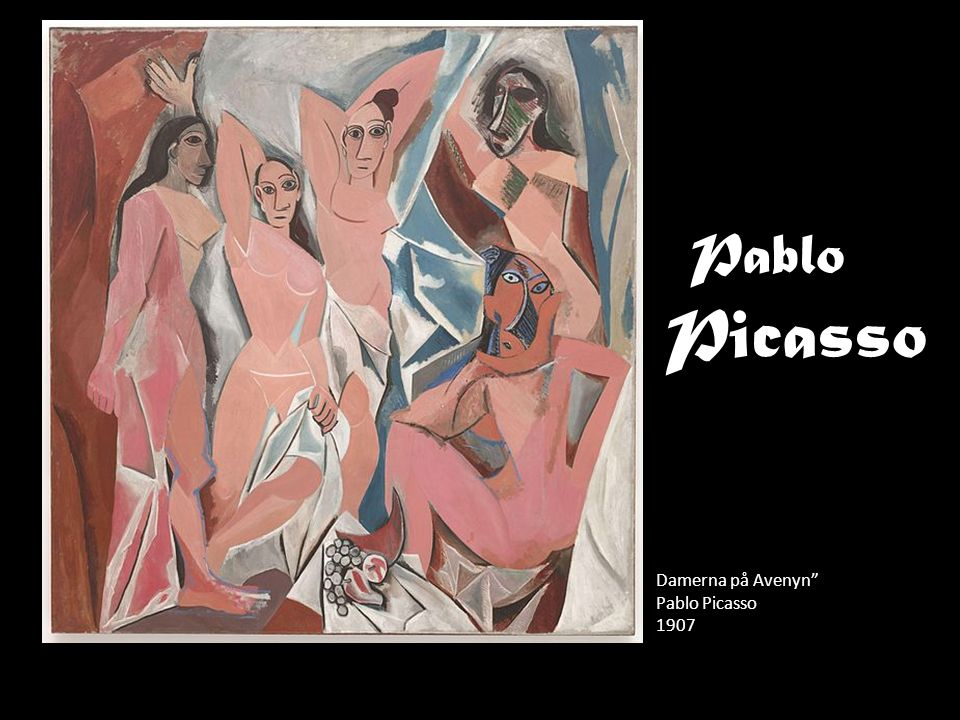 Pablo Picasso Damerna på Avenyn Pablo Picasso 1907