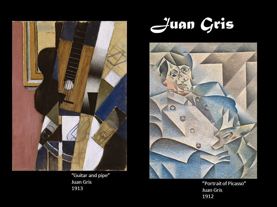 Juan Gris Guitar and pipe Juan Gris 1913 Portrait of Picasso