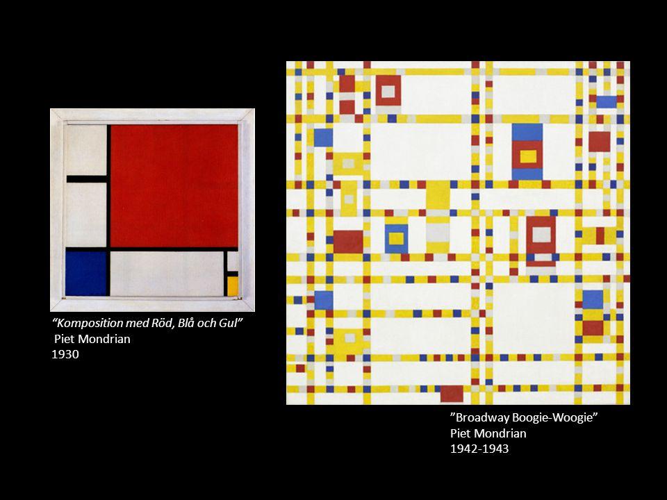 Komposition med Röd, Blå och Gul