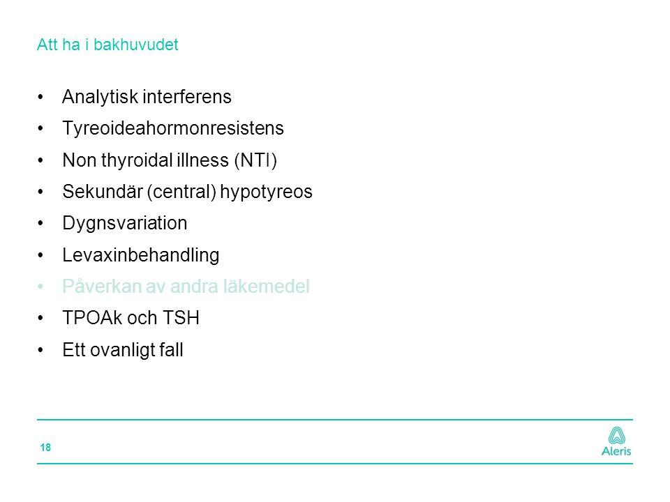 Analytisk interferens Tyreoideahormonresistens
