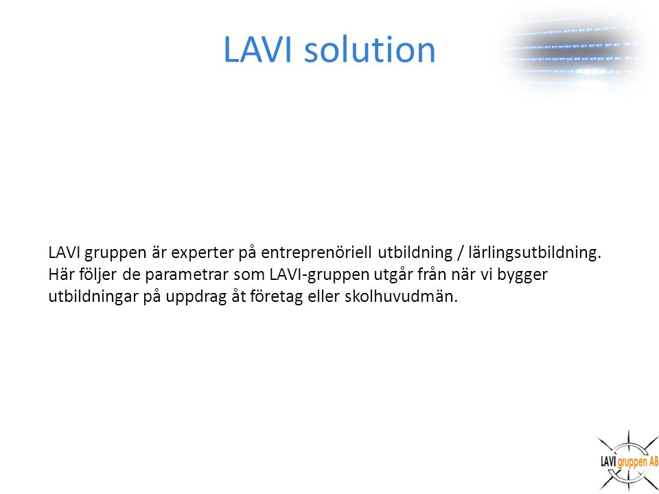 LAVI solution