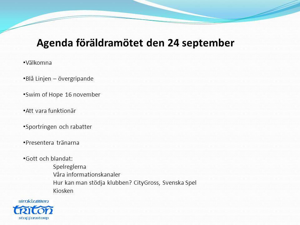 Agenda föräldramötet den 24 september