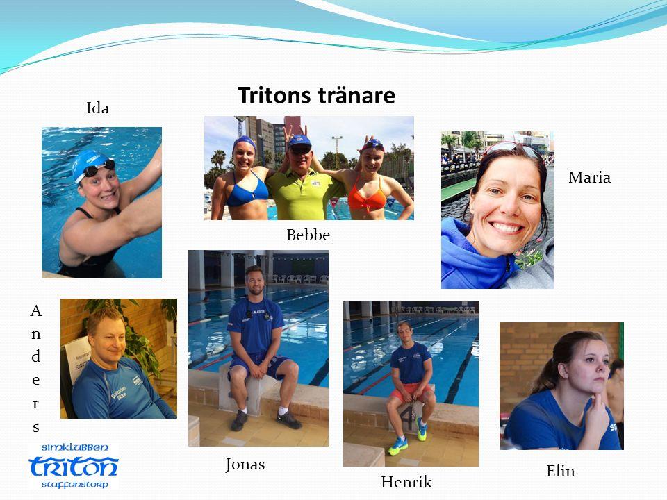 Tritons tränare Ida Maria Bebbe Anders Jonas Elin Henrik