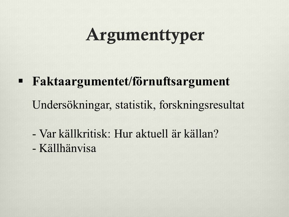 Argumenttyper