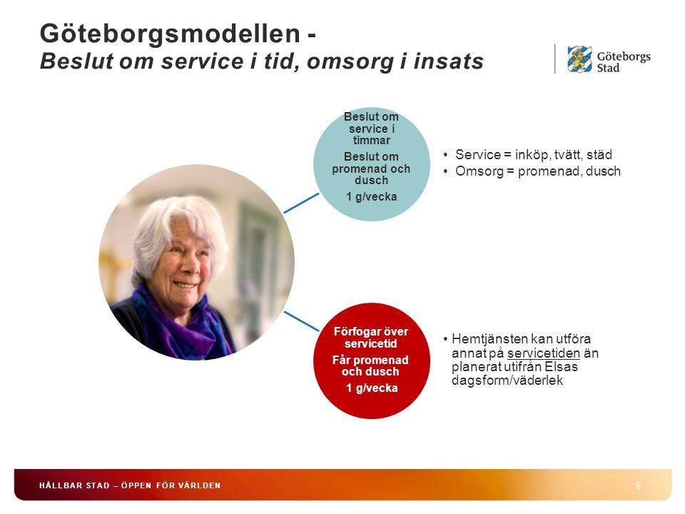 Göteborgsmodellen - Beslut om service i tid, omsorg i insats