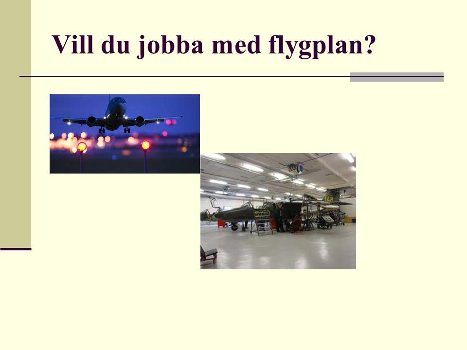 Vill du jobba med flygplan