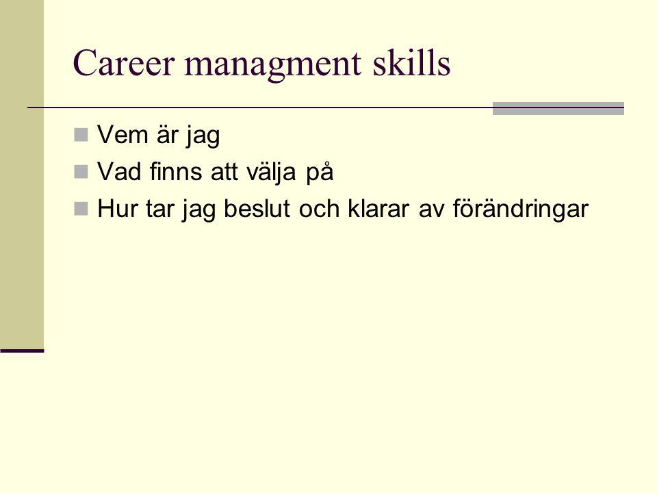 Career managment skills