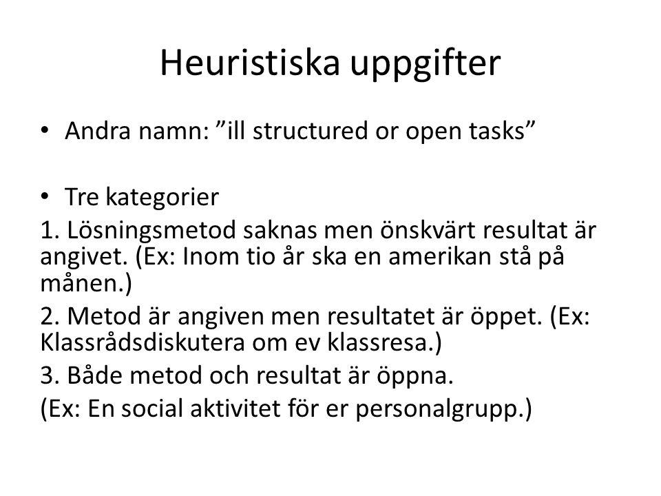 Heuristiska uppgifter