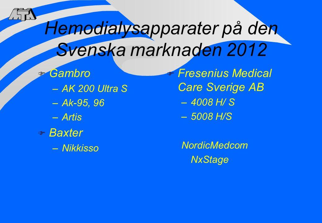 Hemodialysapparater på den Svenska marknaden 2012