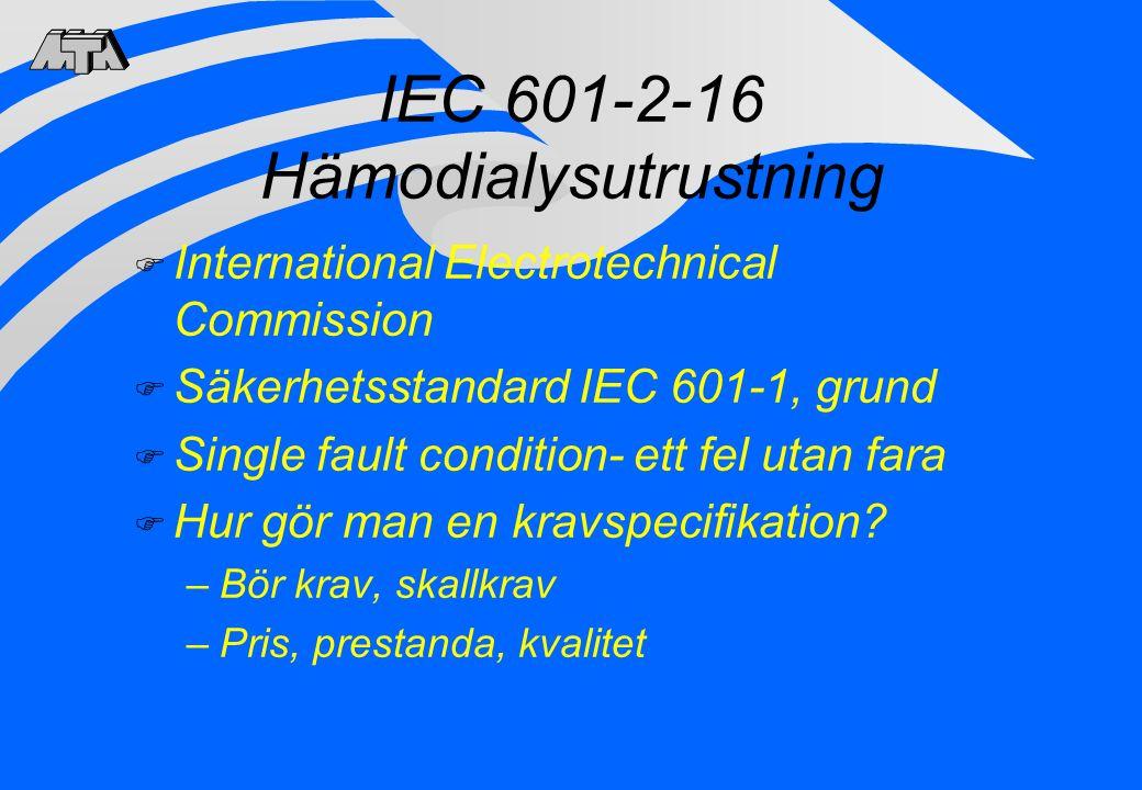 IEC 601-2-16 Hämodialysutrustning