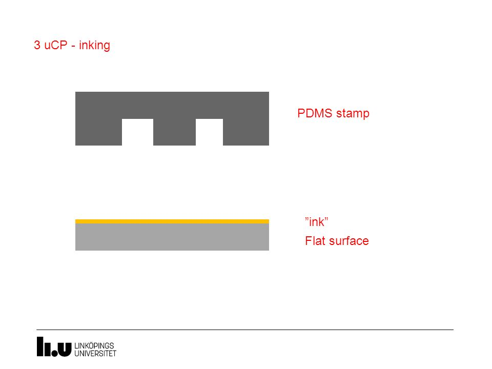 3 uCP - inking PDMS stamp ink Flat surface
