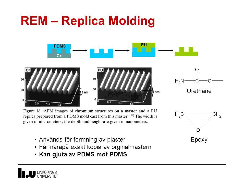 REM – Replica Molding Urethane Används för formning av plaster