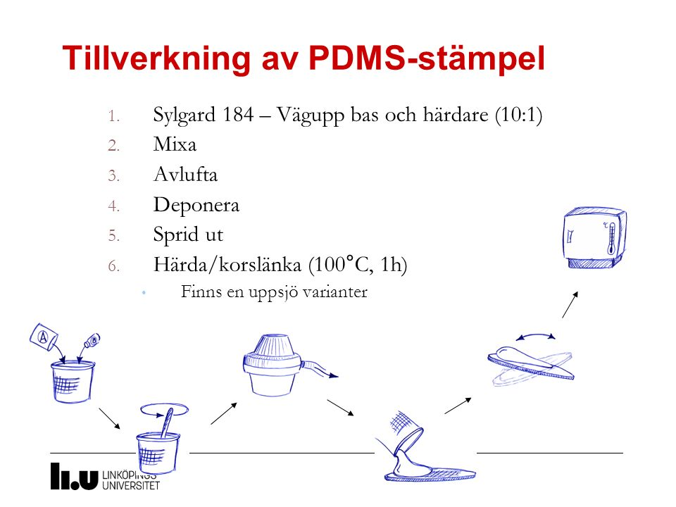 Tillverkning av PDMS-stämpel
