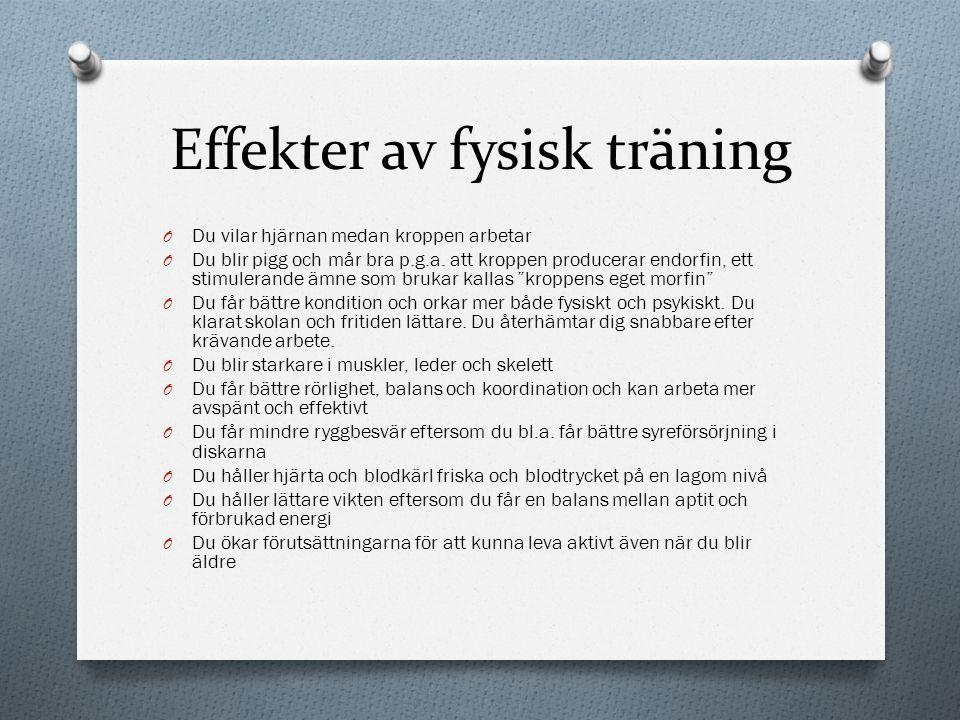 Effekter av fysisk träning