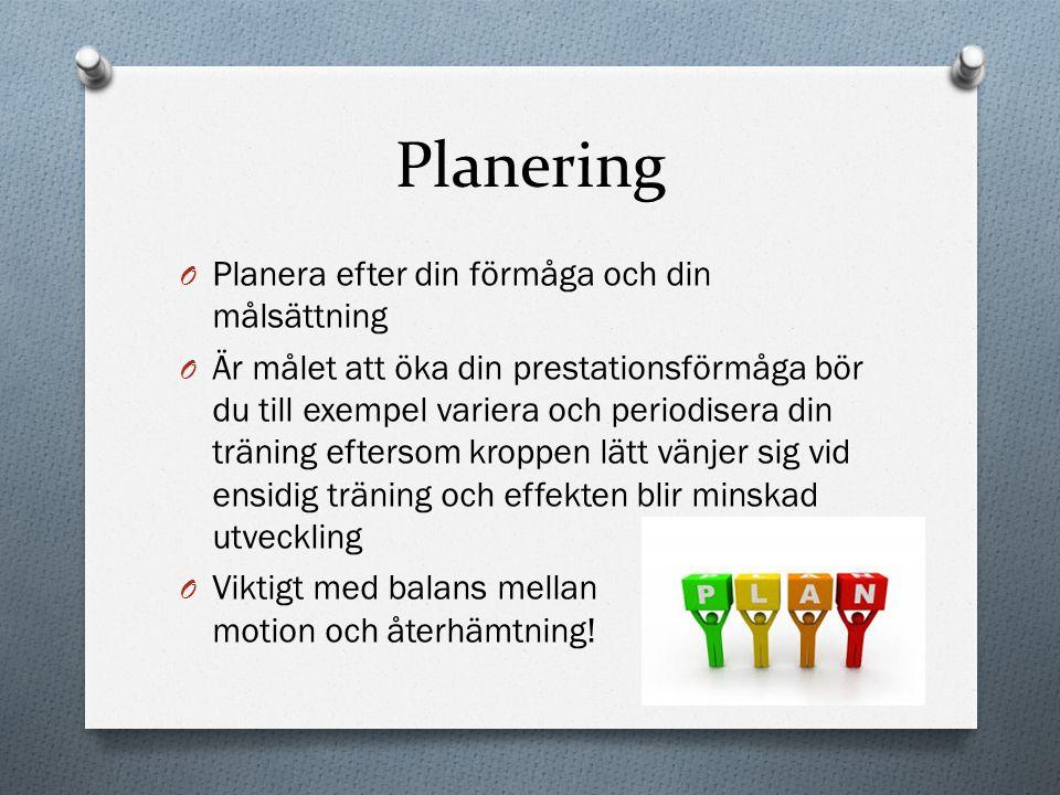 Planering Planera efter din förmåga och din målsättning