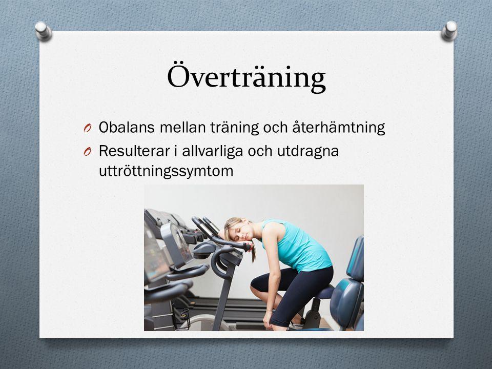 Överträning Obalans mellan träning och återhämtning
