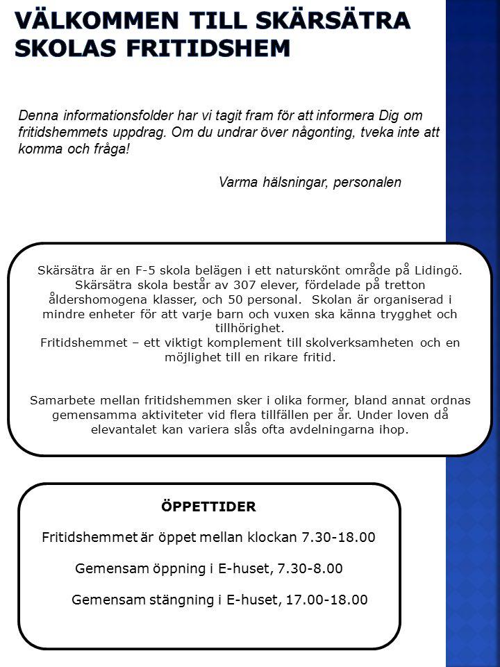 Välkommen till Skärsätra skolas fritidshem