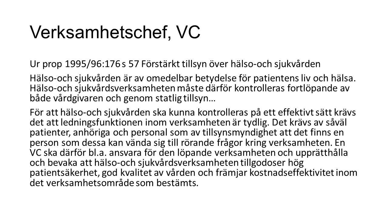 Verksamhetschef, VC