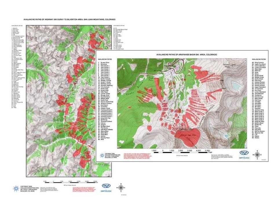 Kartering av lavinstråk - riskkartor