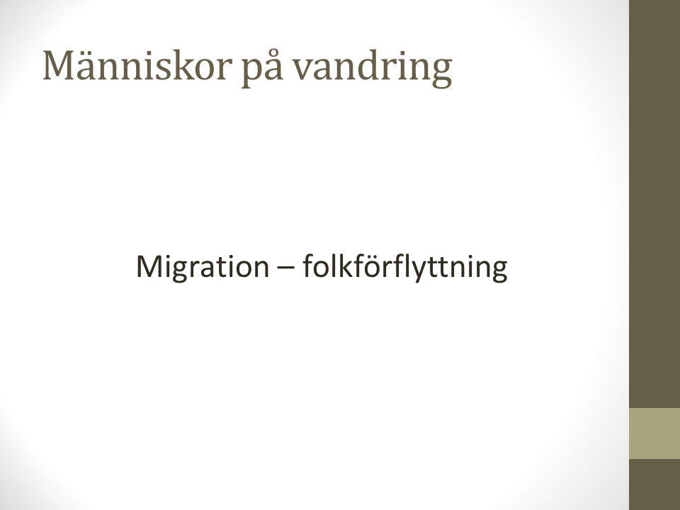 Migration – folkförflyttning