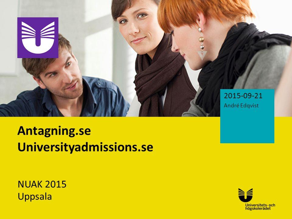 Antagning.se Universityadmissions.se