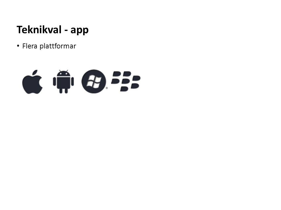 Teknikval - app Flera plattformar