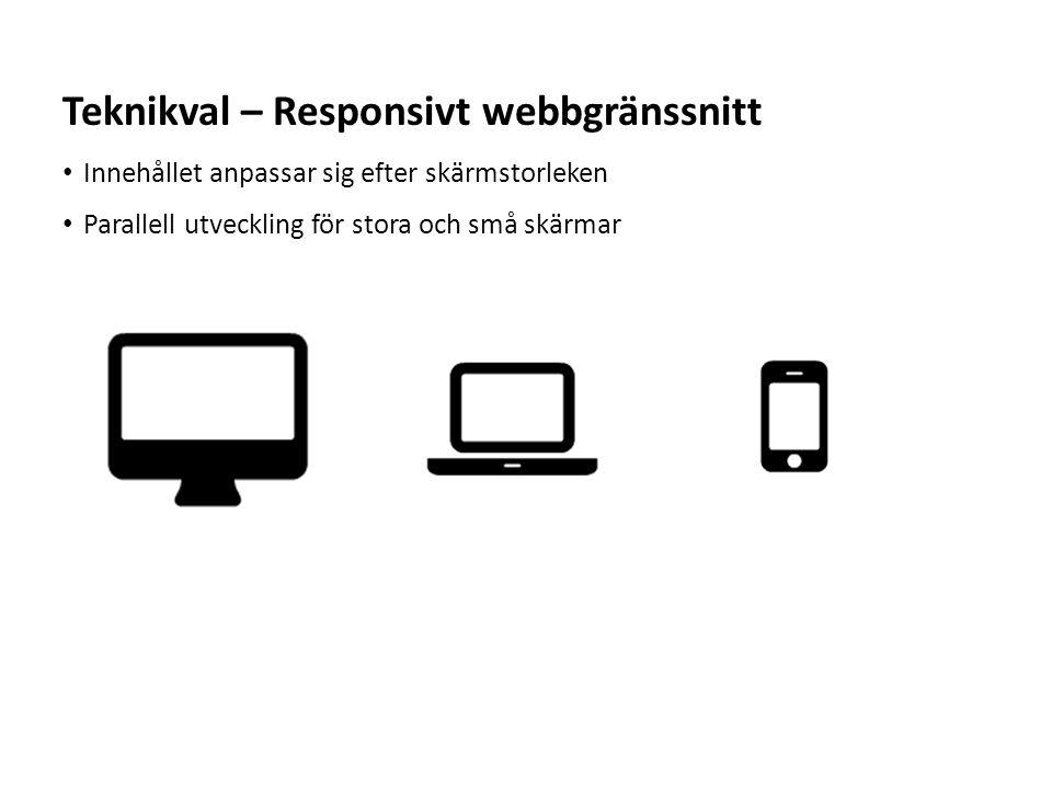 Teknikval – Responsivt webbgränssnitt