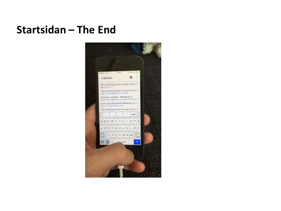 Startsidan – The End
