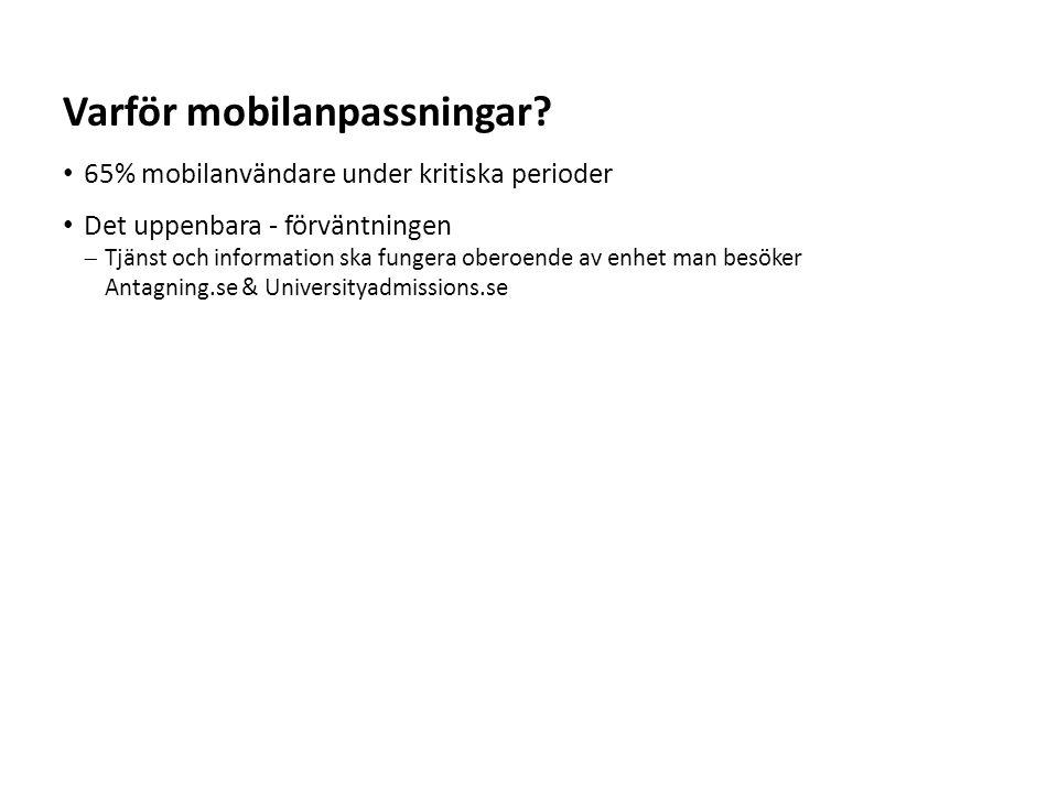 Varför mobilanpassningar