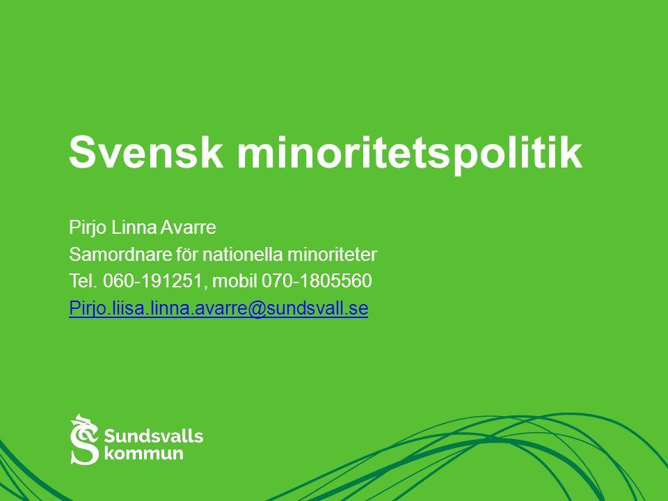 Svensk minoritetspolitik