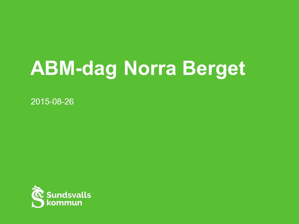 ABM-dag Norra Berget 2015-08-26