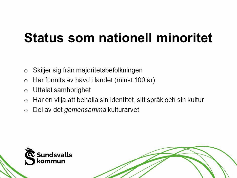 Status som nationell minoritet