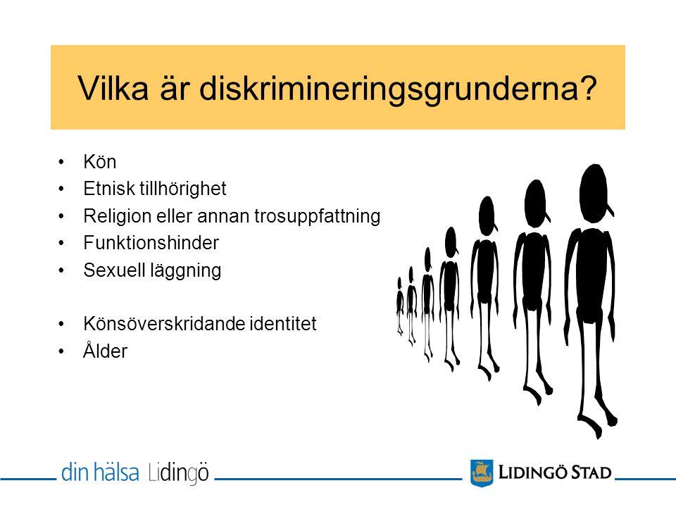 Vilka är diskrimineringsgrunderna