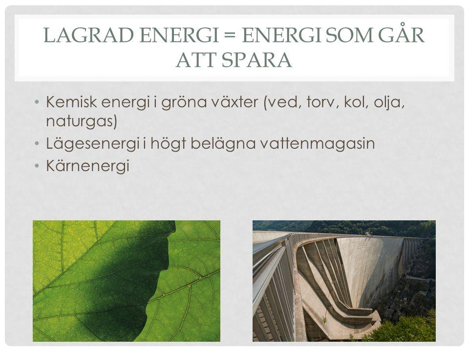 Lagrad energi = energi som går att spara