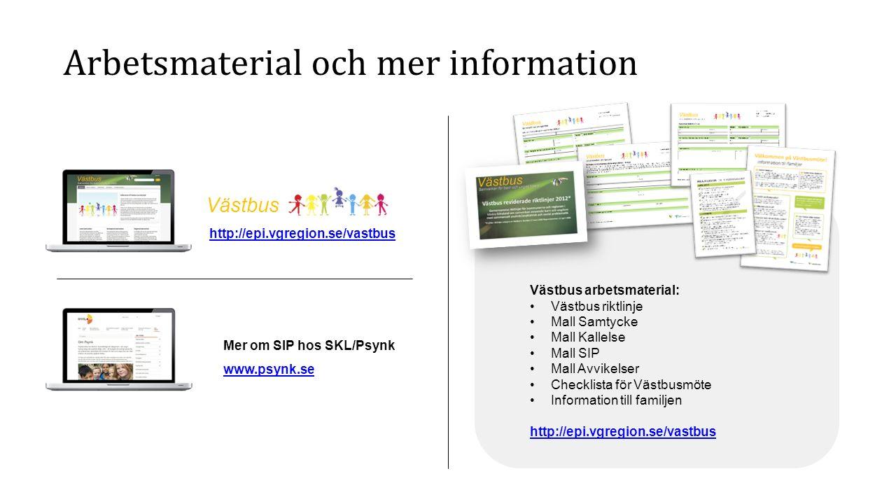Arbetsmaterial och mer information