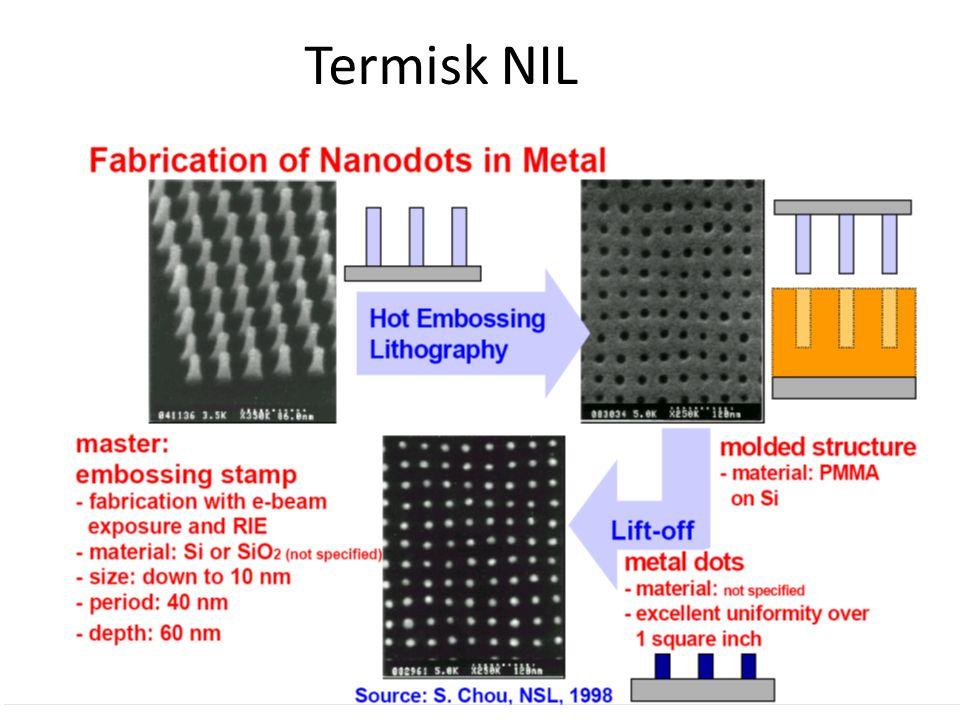 Termisk NIL Från master till lift off metall nanodots