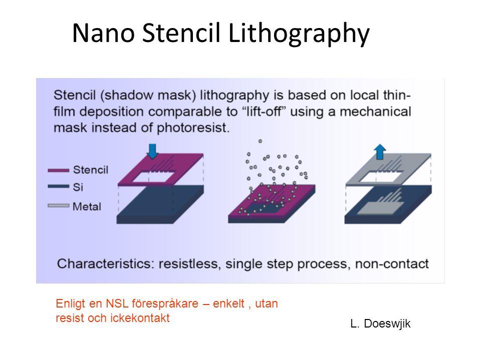 Nano Stencil Lithography