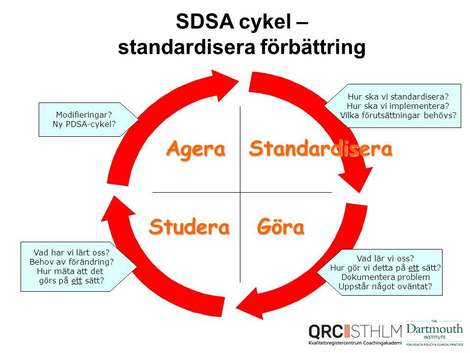SDSA cykel – standardisera förbättring