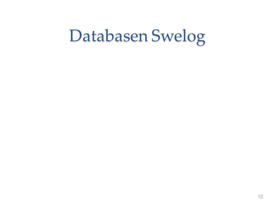 Databasen Swelog