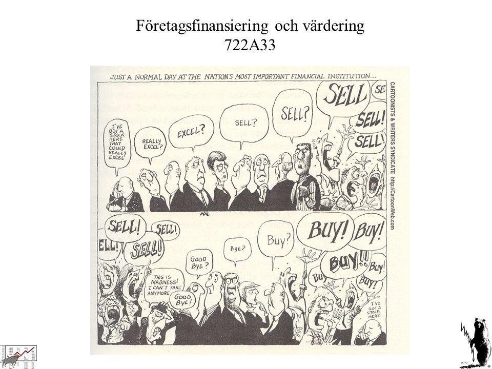 Företagsfinansiering och värdering
