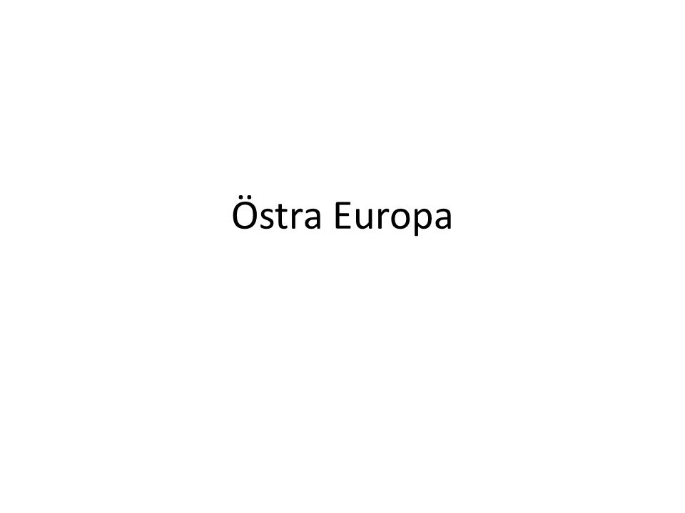 Östra Europa