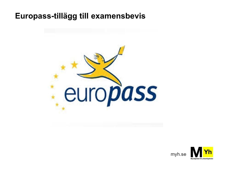 Europass-tillägg till examensbevis