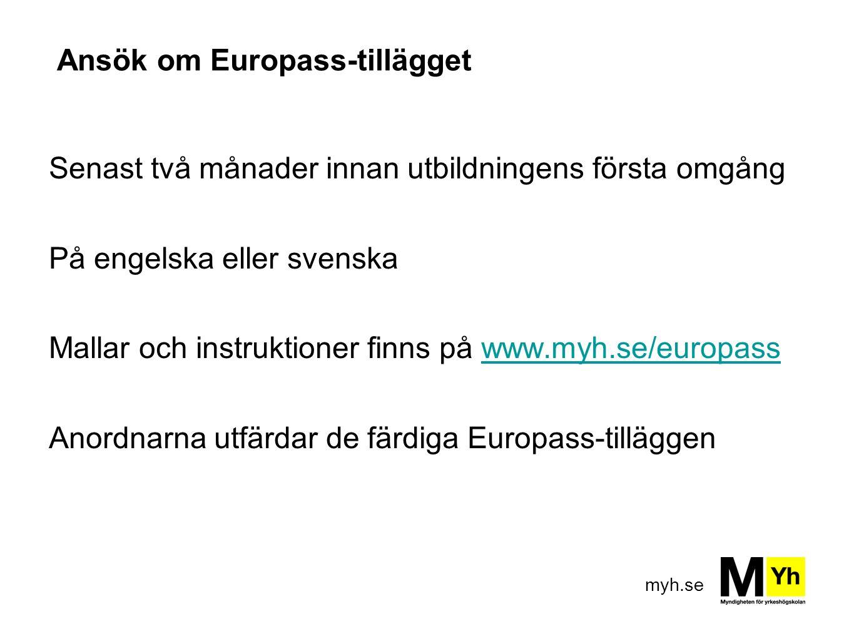 Ansök om Europass-tillägget