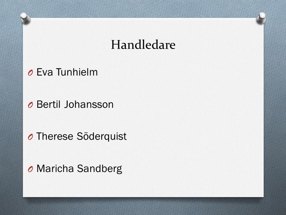 Handledare Eva Tunhielm Bertil Johansson Therese Söderquist