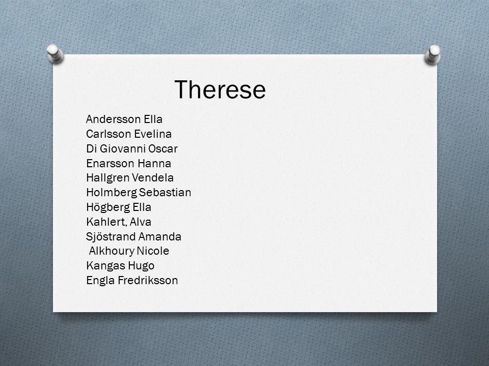 Therese Andersson Ella Carlsson Evelina Di Giovanni Oscar