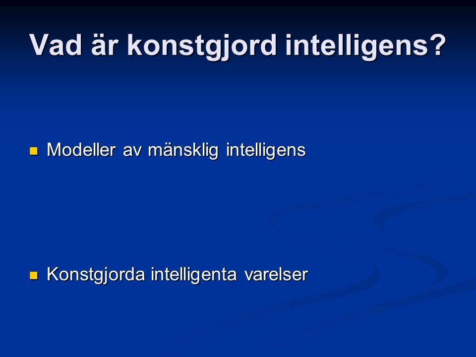 Vad är konstgjord intelligens