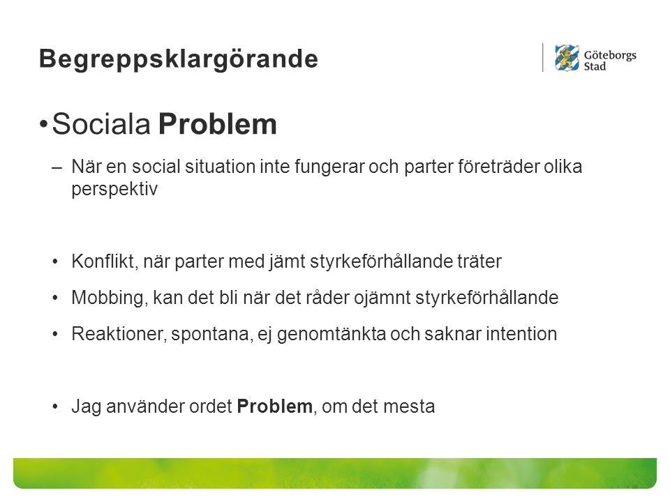 Sociala Problem Begreppsklargörande